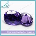 sintético de alta calidad de amatista cz diamante oval