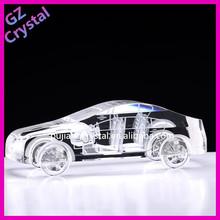 Hot Sale Table Decoration 3d Crystal Car Model / anniversary souvenir