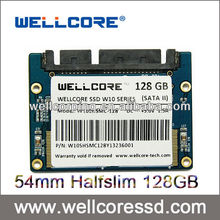 Wellcore 50mm half slim Ssds Nand flash 128GB Halfslim Up to 15g Internal SSDs