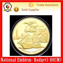 custom logo and size fake gold plated tungsten coins for souvenir