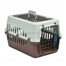 plastic handle pet carrier with wheel /plastic dog crate kennel /walking pet carrier /for carry pet convenient