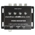 car video booster amplificador 4 saídas de vídeo rca
