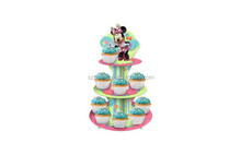 Mickey mouse floor cardboard display stand advertising display cake stands