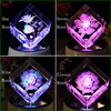 Wholesale K9 Rose Flowers Led Base Crystal 3d Laser Etched Paperweight