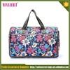 korean style cute waterproof nylon fabric flower shoulder sling bag for girls