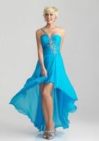 2015 Hot Sale New Fashion one shoulder chiffon simple evening dress