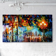 hand painted acrylic palette knife painting on canvas