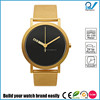 PVD Gold Stainless steel case and strap Japan movement 3ATM water resistant moving disk color changing watch dials