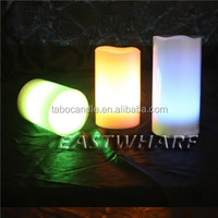 color glowing wax candle