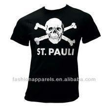 Popular o-neck black skull t-shirts mens