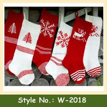 W-2018 Hot sale wholesale stylish custom hand crochet christmas stockings