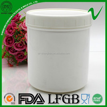 cheap bpa free HDPE white plastic container for powder