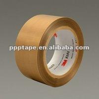 3M5151 General Purpose PTFE Glass Cloth Tape Light Brown
