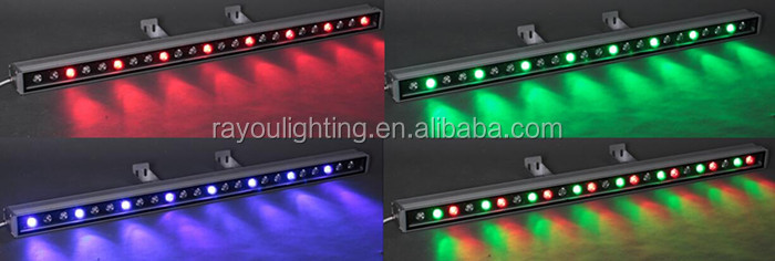 led wall washer lighting effect
