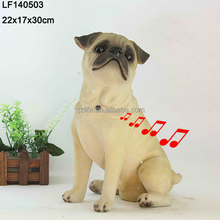 home decoration dog resin sensor bulldog in decoration
