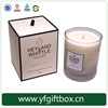 China factory alibaba wholesale high end deisgn candle box recyclable paper candle packaging box