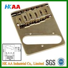 Custom high precision stainless steel chromed guitar bridge, electric guitar tremolo bridge supplier