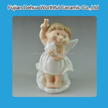 Hot sale ceramic home decoration in cutely girl shape