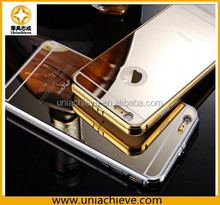 Aviation Aluminum Bumper Frame Transparent Bottom Hard Case for iPhone 6/iPhone 6 plus(Gold)