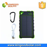 2015 new product 8000mAh waterproof solar charger power bank in alibaba China