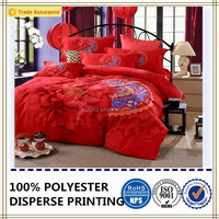 bedding sets for wedding polyester brushed fabric romantic style