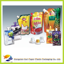 Beverage and wine bag with spout/Food packaging spout pouch for juice /liquid stand up pouch with spout