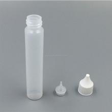 Empty plastic super glue bottle with child proof long thin tip plastic bottle