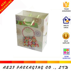 factory customized fancy design luxury satin handles paper gift bag 3d models