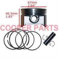 ZongShen CG250 Piston Set,67mm bore Piston Kit,include Piston,Ring,Pin,Clip