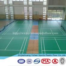 pvc vinyl badminton sport roll flooring for sale