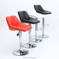 China Factory Supplier Modern Bar Chairs, Leather Swivel Bar Chair with Armrest