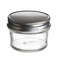 Eco Mason Tapered Glass Jar 4 oz w/ Silver Lid