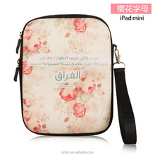 2015 new design for ipad mini neoprene bag