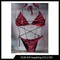 New fashion metal chain connector removable cup string bikini beachwear wholesale