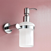 High Good Quality Hand Liquid Stainless Steel Pump Frosted Glass Soap Dispenser