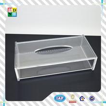 Acrilico plexiglass tessuto scatola/acrilico scatola in plexiglass rettangolo/fazzoletto di carta tovaglioli