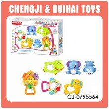 plastic baby rattle rock bell toy