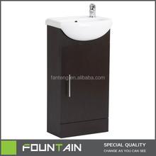 Hot Sale Commercial Chip Board PVC Foiled Ceramic Baisn Vanity MDF Board Moden PVC Membrane Bathroom Vanity