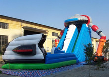 customed inflatable ailen amusement park with slide