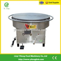 600mm CE stainless steel gas stove rotating crepe maker and hot plates for sale