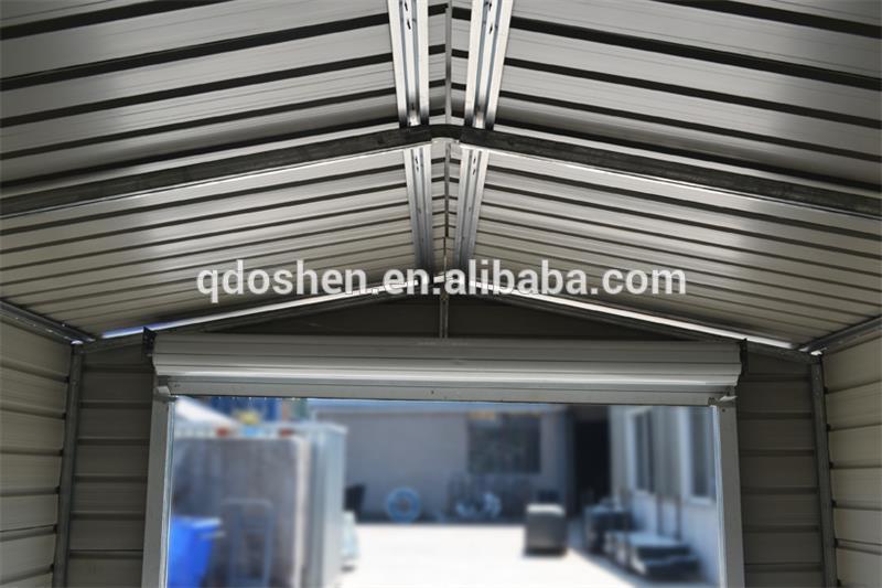 Garaje de metal caseta de jard n de metal cobertizo de almacenamiento garajes techos y - Caseta de metal ...