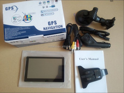 "Cheap 7"" GPS Navigator gps sd card maps with 256MB, 8GB flash, 800Mhz, Bluetooth, AVIN, TTL. Free Map."