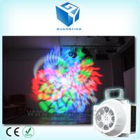 White case rotating 8pcs 3w mini beam led stage light