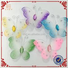 2015 newest artificial butterfly silk butterfly wings