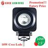 "Wholesale Price! 2.5"" Mini 10W Led Work Light, 4WD Tractor 10W Led Wok Light"