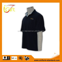 Hot sale high quality ribbed collar cheap custom branded us polo luggage prices