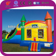 New fantastic inflatable castle combo slide for sale