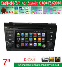 Hot Sale Newest Android 4.4 Car Stereo for OLD MAZDA 3 2004-2009 with Radio Aux In Ipod, Trade Assurance Supplier