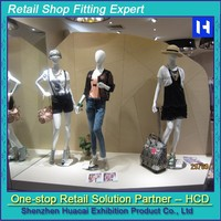 Fashionable clothing store interior design t shirt display racks