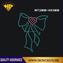 Wholesale Bow hotfix heat rhinestone transfers designs
